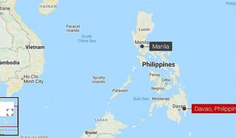 필리핀 남부에서 규모 6.8의 지진