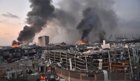 레바논 베이루트 폭발참사로 4000명 사상