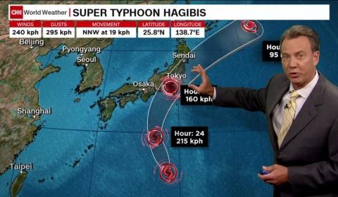일본, 초강력 태풍 하기비스  (Typhoon Hagibis) 열도 초긴장