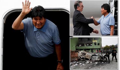 에보 모랄레스, 볼리비아에서 멕시코로 망명